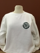 BOYS and GIRLS WHITE CREWNECK SWEATSHIRT