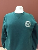 BOYS and GIRLS GREEN CREWNECK SWEATSHIRT