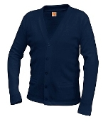 Navy Cardigan Sweater