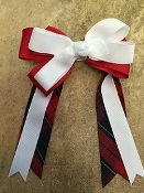 Ford Plaid Large Clip Bow