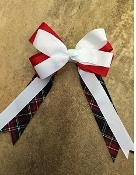 Agnes Plaid Large Clip Bow