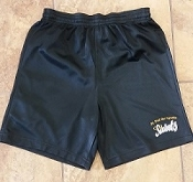 Boys & Girls Black  P.E Mesh Shorts