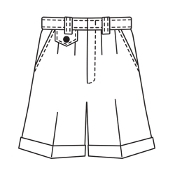 Girls Navy Shorts K-8th