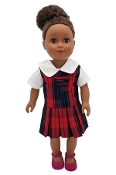 American Doll Dress-Ford Plaid